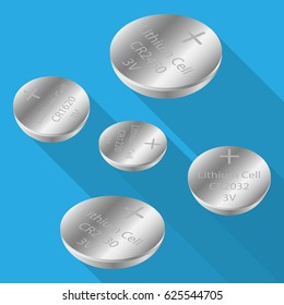 coin button battery or watch battery many type