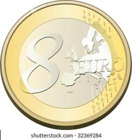 coin eight euro