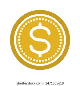 coin icon. flat illustration of coin - vector icon. coin sign symbol