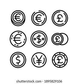 coin icon or logo isolated sign symbol vector illustration - Collection of high quality black style vector icons