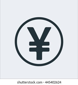 Coin icon, yen icon,sign icon,Currency icon