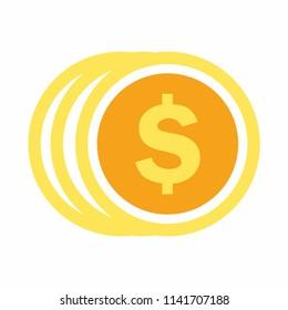 Coin logo. money symbol icon. Vector