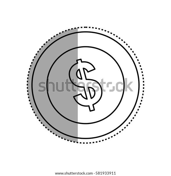 Coin of money icon vector illustration graphic design