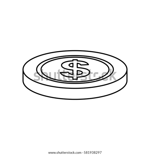 Coin money isolated icon vector illustration graphic design