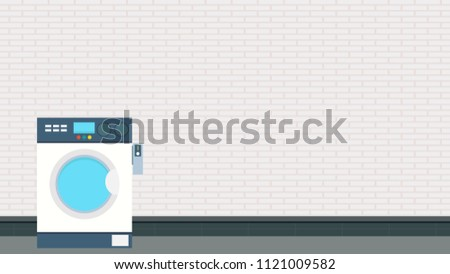 Coin Operated Washing Machine Vector Free Stock Vector