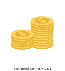 Coin, stack, dollar, heap icon vector image. Can also be used for eCommerce, shopping, business. Suitable for web apps, mobile apps and print media.