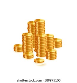 Coin stack icon. Vector