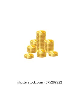 Coin stack. Vector