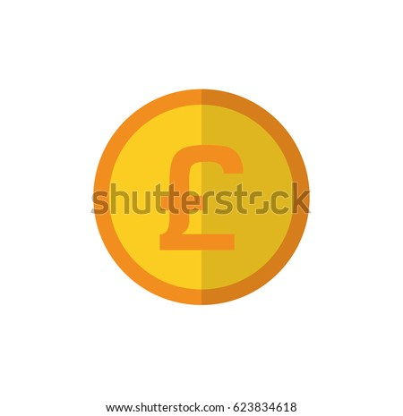 Coin Symbol Pound Sterling Uk Stock Vector Royalty Free 623834618