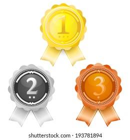 Coins award first, Second, Third.