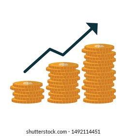 Coins design, Money financial item commerce market payment invest and buy theme Vector illustration