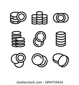 coins icon or logo isolated sign symbol vector illustration - Collection of high quality black style vector icons