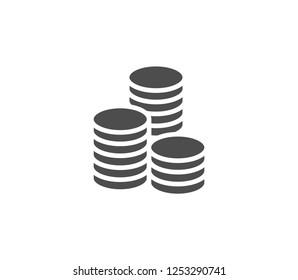 Coins icon . Vector . EPS 10