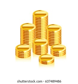 Coins stack .Vector