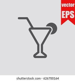 Coktail icon infographic isolated in flat style.Vector illustration.