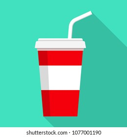 Cola icon. Flat illustration of cola vector icon for web