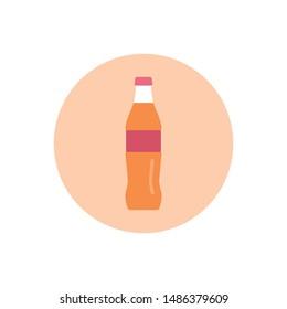 Cola Vector Icon Flat Style Illustration.