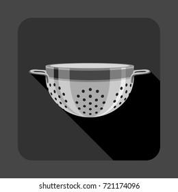 Colander concept background. Cartoon illustration of colander vector concept background for web design