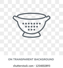 colander icon. colander design concept from Kitchen collection. Simple element vector illustration on transparent background.