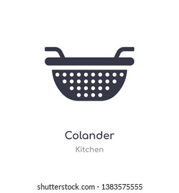 colander icon. isolated colander icon vector illustration from kitchen collection. editable sing symbol can be use for web site and mobile app