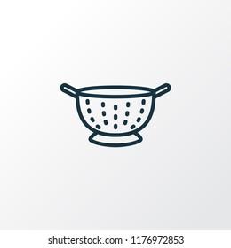 Colander icon line symbol. Premium quality isolated drainer element in trendy style.