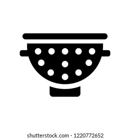 colander icon. Trendy colander logo concept on white background from kitchen collection. Suitable for use on web apps, mobile apps and print media.