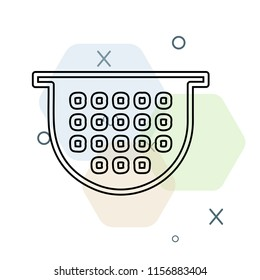 Colander icon vector can be used as png, Colander