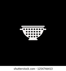 Colander vector icon. flat Colander design. Colander illustration for graphic