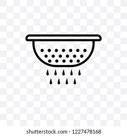 colander vector linear icon isolated on transparent background, colander transparency concept can be used for web and mobile