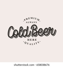 Cold Beer logo vector illustrations