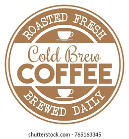 Cold Brew Coffee Stamp