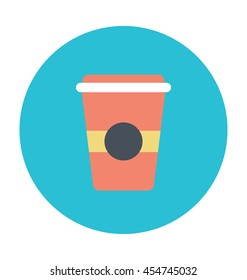 Cold Coffee Vector Icon