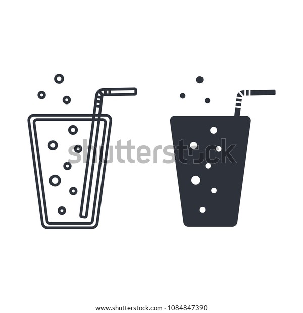 cold drink icon  glass icon vector