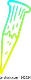 cold gradient line drawing of a cartoon bloody vampire stake
