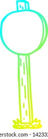 cold gradient line drawing of a cartoon sign post