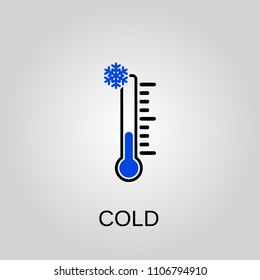 Cold icon. Cold symbol. Flat design. Stock - Vector illustration