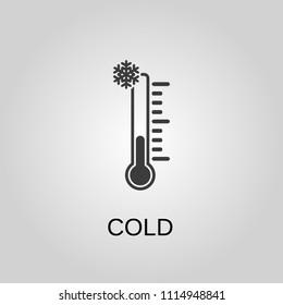 Cold icon. Cold symbol. Flat design. Stock - Vector illustration