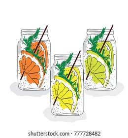 cold lemonade with mint
