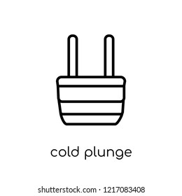 Cold Plunge icon. Trendy modern flat linear vector Cold Plunge icon on white background from thin line sauna collection, editable outline stroke vector illustration