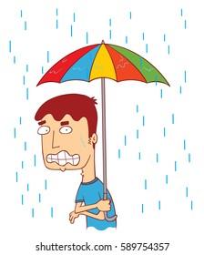 cold in the rain