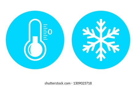 Cold temperature vector icon on white background