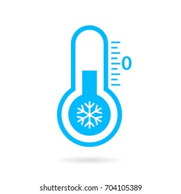 Cold temperature vector icon on white background