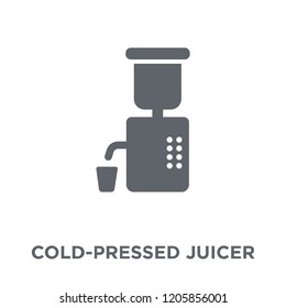 Cold-pressed juicer icon. Cold-pressed juicer design concept from Electronic devices collection. Simple element vector illustration on white background.