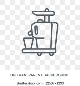 Cold-pressed juicer icon. Trendy flat vector Cold-pressed juicer icon on transparent background from Electronic devices collection. High quality filled Cold-pressed juicer symbol use for web and