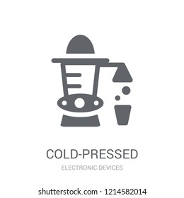 Cold-pressed juicer icon. Trendy Cold-pressed juicer logo concept on white background from Electronic Devices collection. Suitable for use on web apps, mobile apps and print media.