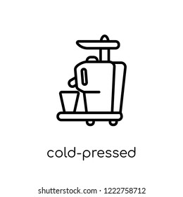 Cold-pressed juicer icon. Trendy modern flat linear vector Cold-pressed juicer icon on white background from thin line Electronic devices collection, editable outline stroke vector illustration