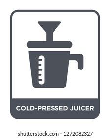 cold-pressed juicer icon vector on white background, cold-pressed juicer trendy filled icons from Electronic devices collection, cold-pressed juicer simple element illustration