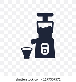 Cold-pressed juicer transparent icon. Cold-pressed juicer symbol design from Electronic devices collection.