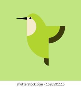 Colibri bird vector. colibri bird vector icon in flat style.