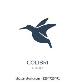 colibri icon vector on white background, colibri trendy filled icons from Animals  collection, colibri vector illustration